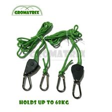 Grow Light Hangers 1/8 Adjustable Rope Ratchets Hydroponics Tent Carbon Filters