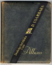 Postkartenalbum, Mützenband der Deutschen Ost-Afrika Linie, um 1930