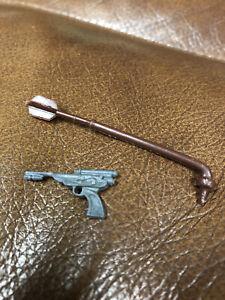 Vintage Original Star Wars Grey Palace Blaster + Gaderffii Stick Used Toy Parts
