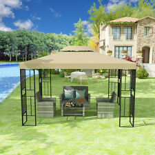 "Yitahome 12x10"" Gazebo Canopy Party Outdoor Vented Double Roof Garden Tent Patio"