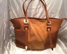 Lionel- Large Saddle Brown Handbag Purse Flux Leather and Suede