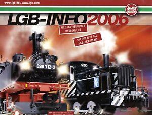LGB Info 2006 Prospekt Modellbahn Modelleisenbahn brochure model railway Bahn