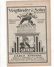 Pubblicità vintage 1928 VOIGTLANDER FOTO PHOTO advert werbung publicitè reklam
