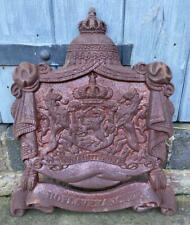 More details for cast iron heraldic shield coat of arms wall decoration - lions & crown