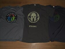 Three Spartan Race Performance Shirts, 2020 Strong, Trifecta, + Finisher Lot.
