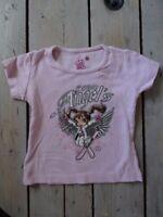 T-shirt rose imprimé fillette au ski manches courtes AVOMARKS Taille 4 ans