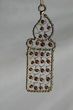 Weihnachtsschmuck Kerze Christbaum Anhänger - Gold farbenes Drahtgeflecht  /S257