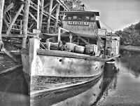 ECHUCA WHARF Murray River Paddle Steamer Boat Wall Art Print Photograph