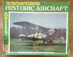 Vintage Whitman Historic Aircraft Bristol F2B jigsaw 400 piece puzzle 1975