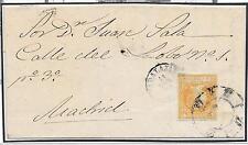 España. Carta de Guadalajara a Madrid con sello de 4 cts. Edifil nº 52