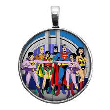 Super Friends Key Ring Necklace Cufflinks Tie Clip Ring Earrings Superman Batman