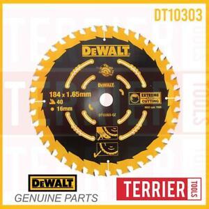 DeWalt DT10303 184mm x 16mm 40T Extreme Framing Circular Saw Blade