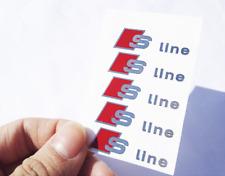 * 2 Audi S Line Sticker Interior Exterior Logo Emblem Badge A1 A3 A5 A6 A7 TT