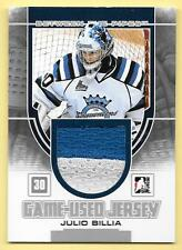 13/14 Between The Pipes Silver #16 Julio Billia 2 Color Jersey Card SP/180
