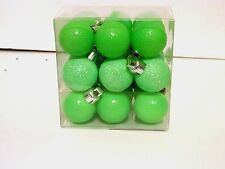 27 Green Glitter Ball 1 Inch Shatter Resistant Christmas Ornament Decoration