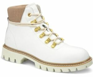 CAT Handshake WHITE / Gold Hiker Ankle Boot rrp £110
