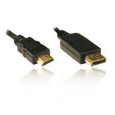2M Display Port Male to HDMI Male Adapter Convertor Changer Cable Lead Wire