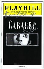 Cabaret Broadway Signed Playbill Alan Cumming and Michelle Williams August 2014