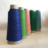 Fine Dyed Pure Linen Yarn,Strong Thread, Weaving Embroidery Knitting Crochet 50g