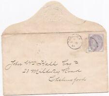 # 1881 LONDON EC DUPLEX 1d INLAND REVENUE STAMP FOR POSTAGE JOHN HALL CHELMSFORD