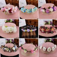 Boho Flower Festival Wedding Garland Crown Forehead Hair Band Headband Head Band