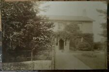 ANTIQUE RPPC VIEWMOF CAT AND DOG OUTSIDE THE CROFT COUNTRY HOUSE WESTMORELAND