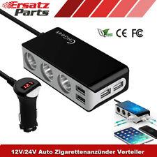 KFZ 3-Fach Zigarettenanzünder Verteiler Auto 4-USB Ladegerät Steckdose Adapter