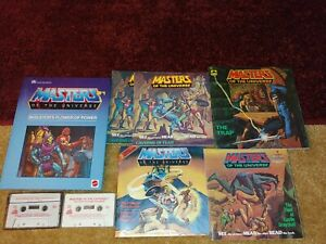 Vintage MASTERS OF THE UNIVERSE MOTU book cassette lot the trap caverns of fear