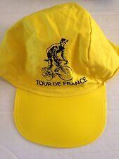 CASQUETTE JAUNE CYCLISME VINTAGE TOUR DE FRANCE