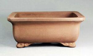 Tokoname Rect. Bonsai Pot by Izumiya #23T27 : 187*143*H79mm