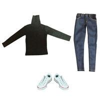 1/6 Scale Mens Vest T-shirt Pants Jeans Shoes for 12'' Enterbay Figure Toys
