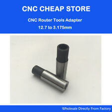 Free shipping New 2 pc Cnc Router Bits shank adaptor 12.7mm into 3.175mm router