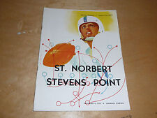 1954 STEVENS POINT (WI) AT ST. NORBERT (WI) COLLEGE FOOTBALL PROGRAM EX-MINT