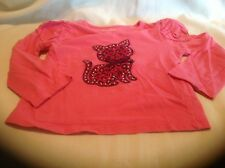 Garanimals 24M Pink Longsleeve Cotton Top with Cat on Front