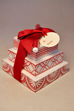 Hallmark: Note Tower With Pen - Hallmark Stationary - Red and White w/ Tag