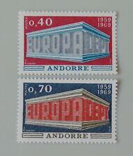 Andorre français 1969 194 195 neuf luxe ** europa cote 40 euros