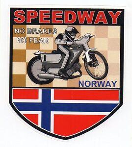 Motorbike Speedway Norway Retro Sticker
