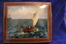 H & G Studios Ercolano Collectible Wooden Music Box-Fishing Boat-Nocturne-Chopin