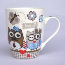 Eulenbecher - grau - Becher / Tasse mit Eule - Eulentasse - Kaffeebecher - NEU