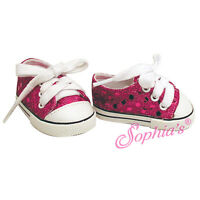 """BLACK Low Top Sneaker Canvas fit American Girl 18/"""" doll shoes sneakers lo"""