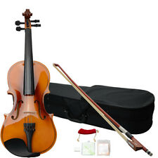New Student Maplewood 1/2 Acoustic Violin Fiddle + Case + Bow + Rosin Natural