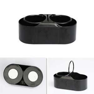 Portable Car Storage Drinks Bottle Dual Holes Water Cup Mount Holder Stand Black