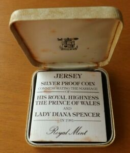 Jersey British Sterling Silver £2.00 Coin 1981 Proof Grade Cased Scarce....