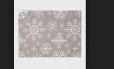 """19""""x14"""" Snowflake All Over Placemat Silver - Threshold"""