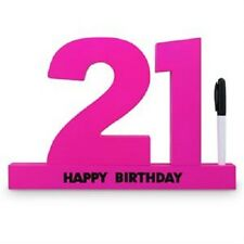21st Signature Sign It White Or Hot Pink - Birthday Gift / Present ~ Party ~
