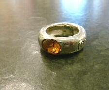 Joop! Silberring 925er Sterling Silber Glasstein orange oval JOOP Ring FvS Gr.55