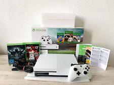 Microsoft Xbox One S 500GB 4K-(Weiß)2.Spiele-Sehr Guter Zustand & OVP