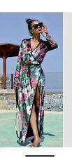 Zara Printed Velvet Kimono Jacket Size S