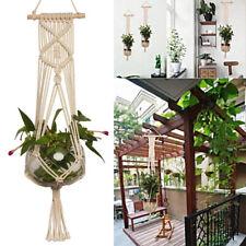 Hot Pot Holder Macrame Plant Hanger Hanging Planter Basket Jute Rope Craft AU