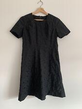 Mini vestido Vintage. negro Floral bordado. Talla 10